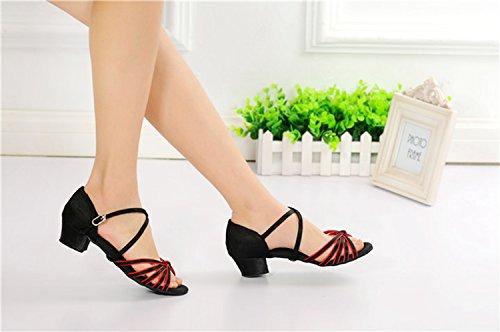 Miyoopark - Ballroom da ragazza' Red/Black-3.5cm Heel