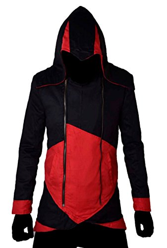 Classyak Assassins Creed Herrenjacke Gr. X-Large, Cotton Black and - Red Assassin Kostüm