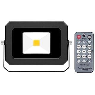 AdLuminis LED Fluter Mit Integriertem Bewegungsmelder Und Fernbedienung - 20W schwarz - Flutlicht-Strahler, Energieklasse A+, LED-Strahler für außen und innen