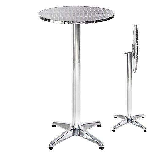 TecTake Hohe Tisch-Bar Aluminium höhenverstellbar Ø 60cm Auswahl -, Metall, Alexander rabattable | No. 401491 - Metropolitan Insel