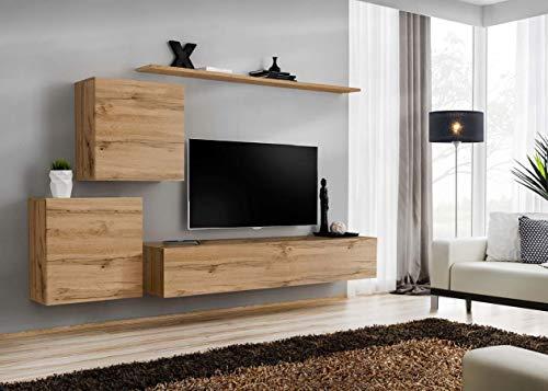 Juub switch v wotan switch v wt - parete da incasso per soggiorno, finitura lucida