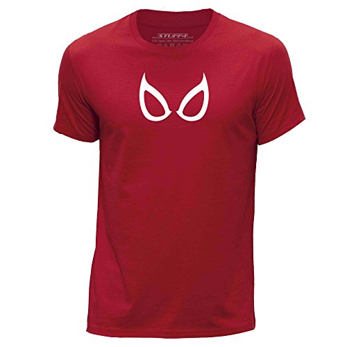 Stuff4® Herren/XX groß (XXL)/Rot/Rundhals T-Shirt/Spider-Man Maske ()