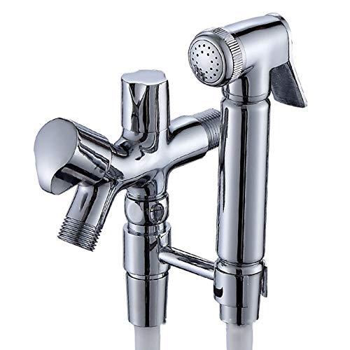 JHMY Toilettenreinigungssprühpistole Kupferner Sprühpistolen-Körperwäscher,Silver