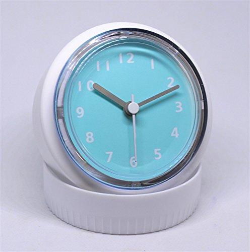 Uhr Hause Küche Quarzuhr wasserdicht Uhr Sucker Kühlschrank Uhr kreative Einfachheit Moderne Kleine Wanduhr, Blue ()