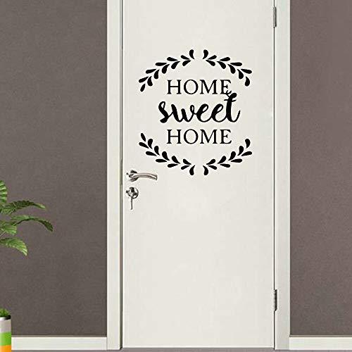 Custom Home Sweet Home Dekorative Aufkleber Wasserdichte Wohnkultur Familie Clan Kinderzimmer Wandkunst Aufkleber 58CMX60CM
