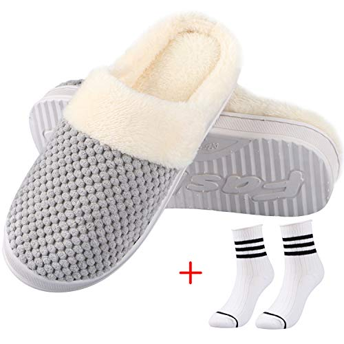 Slippers with a pair of socks