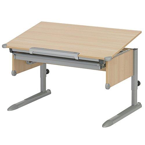 Kettler 06604-4272 College Box Kinderschreibtisch silber / Buche