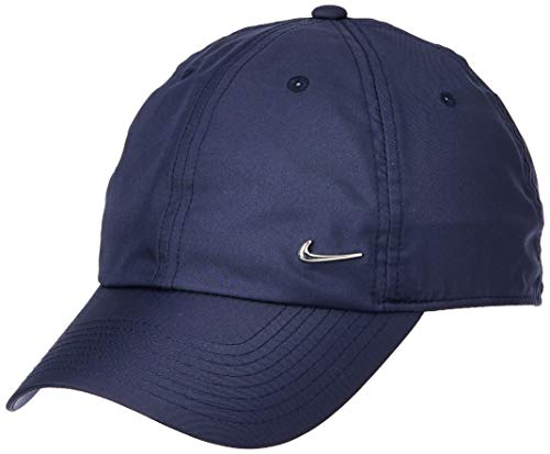 Nike U Nk H86 Cap Metal Swoosh Hat, Unisex Adulto, Obsidian/(Metallic Silver), MISC