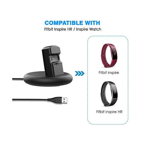 KIMILAR Cargador Compatible con Fitbit Inspire/Inspire HR Cable, 80° Base de Carga USB Repuesto Cargador para Inspire… 5