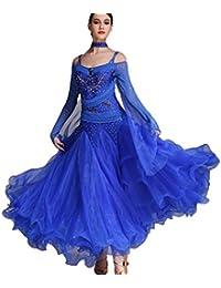 Gonna da Concorso di Danza Moderna a Maniche Lunghe per Le Donne Vestito a  Grandi Altalene Abiti da Sala da… 7b0a4918ca9
