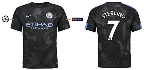 Trikot Herren Manchester City 2017-2018 Third UCL - Sterling 7 (XXL) (Auswärts Trikot City)