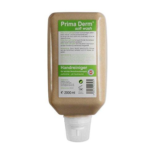 6x Hautreinigung Prima Derm soft wash, Hautreiniger, Flüssigseife, ohne Parabene und Parfüm, 2.000 ml Softflasche (Flüssigseife Wash)