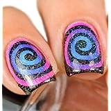 Nail Art Plantillas autoadhesivas, plantillas Manicura 2hojas 23–24/Uñas Protector adhesivo para aerógrafo, esmalte de uñas, Glitter