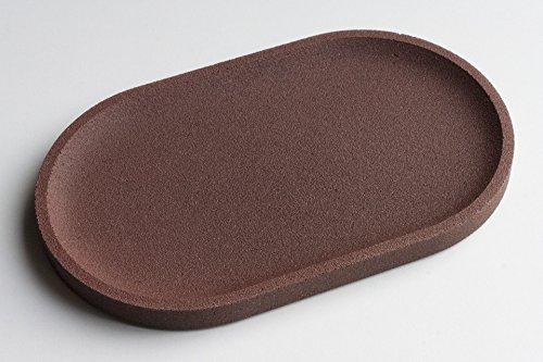 plateau-en-bton-marron-brique-ovale