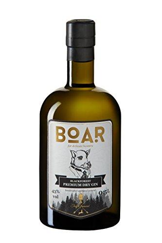BOAR Blackforest Premium Dry Gin/höchstprämierter Gin der Welt 2017/Kleine Schwarzwälder Familienbrennerei seit 1844/Wacholder-, Lavendel- & Zitrustöne