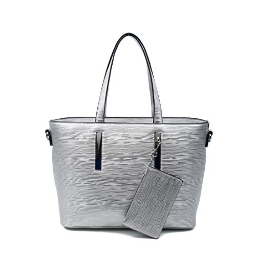 OBC Only-Beautiful-Couture, Borsa a spalla donna argento argento ca.: 37x25x12 cm (BxHxT)