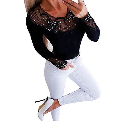 Spitzen-stretch-hemd (Junjie Frauen Damen Sweatshirt Blumenlange Hülsen beiläufige Hoodies Pullover Taschen Oberseiten Floral Casual Mit Kapuze Langärmliges Hemd aus Stretch-Spitze)