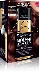 L'Oreal Paris L'Oreal Superior Preference Mousse Absolue Hair Color - Dark Auburn Brown 465 (Pack of 2)
