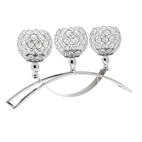 Homyl Kristall Kerzenleuchter Kerzenhalter Romantische Tischdeko Für  Hochzeit / Wohnzimmer/Candle Light Dinner   Silber