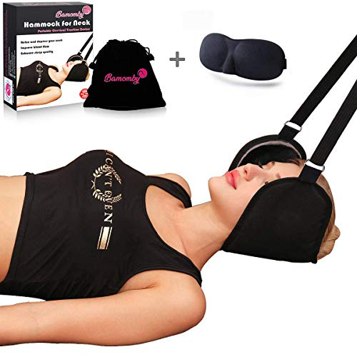 BAMOMBY Hals Hängematte Bessere Hals Relax Tragbare Nackenmassagegerät Schmerzlinderung Kopf Nacken Massagegerät Für Männer Frauen (Hängematte Schwere)
