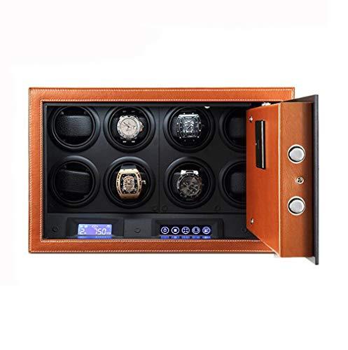 YZ-YUAN Automatischer Uhrenbeweger mit elektronischer Codeschloss-Touchscreen, 4 8 12 Watch Winder mit importiertem Mabuchi-Motor und mit LED-Licht,8 (Motor Winder Mabuchi)