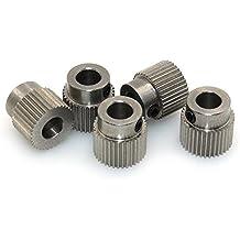 BIQU equipo extrusor Polea 40Teeth Bore 5mm engranaje unidad de latón para 1.75mm & 3mm 3d impresora filamento (paquete de 5)