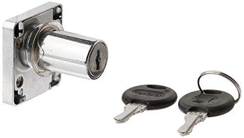 Schreibtisch Buche Sichere Verriegelung Metall Schublade Lock Silber Ton w 2Schlüssel