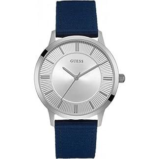 Guess  W0795G4 – Reloj de lujo para hombre, color plateado / azul