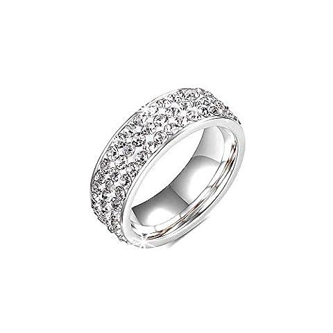 Ring Rush Damen Edelstahl Ringe strass frauen Schmuck silber gold ring Stein breite Breite Massive Rose 21
