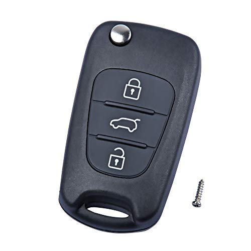 Hyundai - Alloggiamento chiave OTUAYAUTO a 3 pulsanti per I10 I20 I30 Ix35 I40
