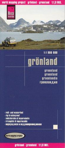Groenland 1:1,9 M Carte de voyages, étanche, compatible avec le GPS, REISE