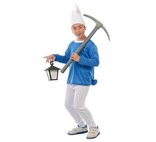 Schlümpfe Kostüm Kinder - Blauer Zwerg - Kinderkostüm Gr. 110