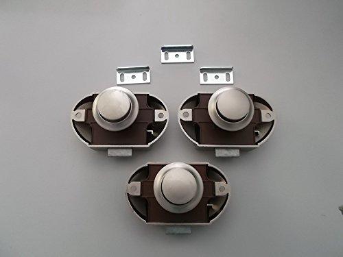 Push Lock Schlösser 3er Set silber