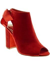 Zapatos rojos Angkorly para mujer VeDPS77