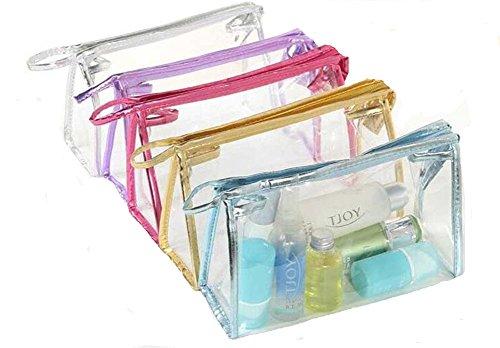 YARBAR PVC transparent Sac étanche Sac de toilette cosmétique pour Voyage / aéroport Approuvé (couleur aléatoire)