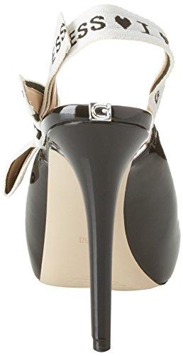 Guess Damen Footwear Dress Sling Back Plateaupumps Nero (Black)
