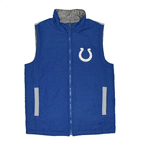 NFL Indianapolis Colts Herren Athletic Zip-Up Fall / Winter Reversible Vest Jacket Mehrfarbig