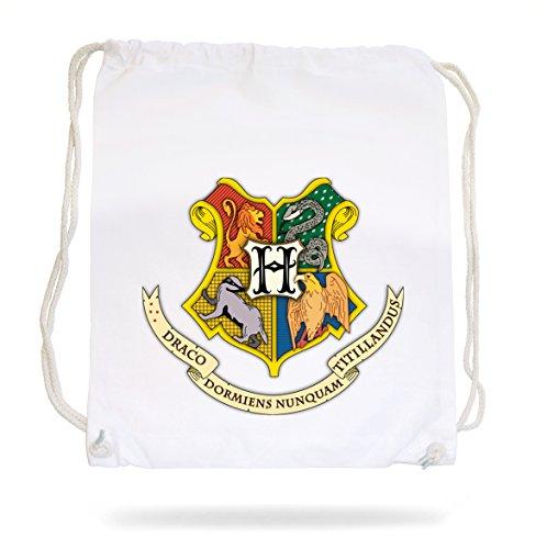 Preisvergleich Produktbild Hogwarts Shield Gymsack White Certified Freak