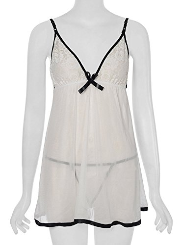 Shararat Premium Sexy Honeymoon Lingerie For Women / Ladies and Girls Nightwear Net Babydoll Dress Sleepwear (SN155W_pro)