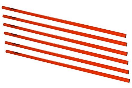 athletikor Slalomstangen_Hürdenstangen_Trainingsstangen 1 Meter in rot (Rot, 6 Stangen)