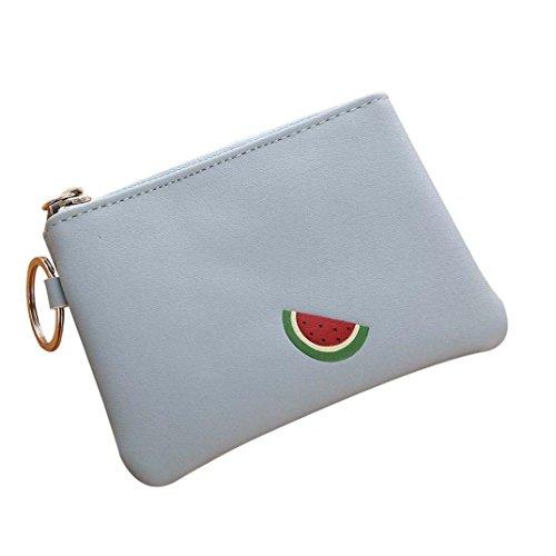 Portafoglio Donna, Tpulling Borsa delle donne semplice della borsa della moneta della chiusura lampo della raccolta della raccolta del raccoglitore delle donne (Green) Blue