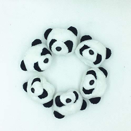 DWSM Niedlichen Plüsch Panda Kopf Kleidung Haarschmuck Schuhe Blumensträuße Und Andere DIY Zubehör Mini Panda Plüsch Puppen 10 PackungenGeschenk - Blumensträuße Schuhe