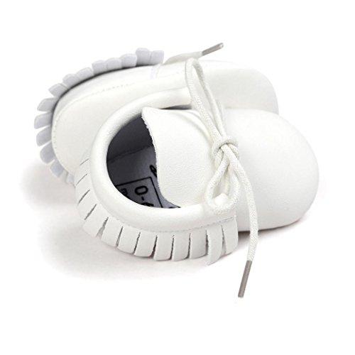 kingko® Kleinkind Turnschuhe Weiches Material macht Baby sehr warm und bequem (Entsprechend Ihrer Lieblingsfarbe für das Baby zu holen) Weiß