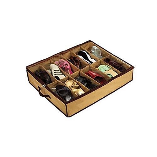Aofocy Schuh Aufbewahrungsbox aufgeräumt unter Bett Turniertasche Sneaker Schrank Stoff Tasche 12 Paar Schuhe