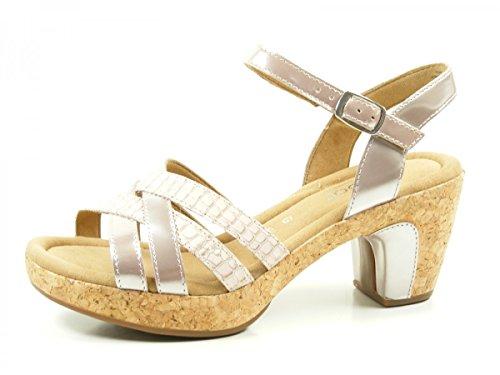 Gabor 62-734-80 Schuhe Damen Sandalen Metallic Plateau Sandaletten Weite G, Schuhgröße:38.5;Farbe:Rosa