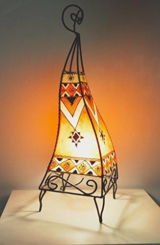 lampe-de-table-sol-au-henne-marocaine-60cm-carres-decoree-orange