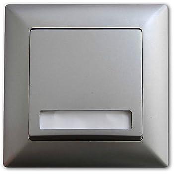 visage klingeltaster mit namensschild beleuchtet schalter mit beleuchtung silber. Black Bedroom Furniture Sets. Home Design Ideas