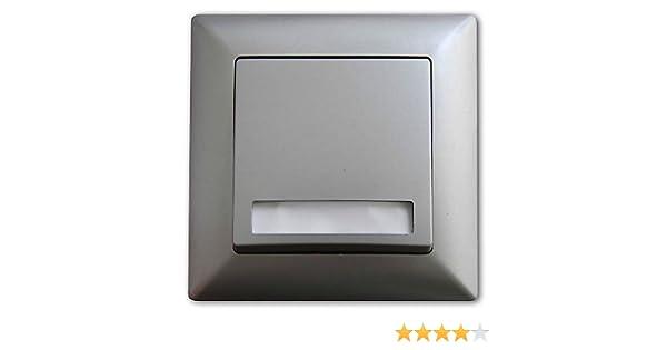 Visage Klingeltaster mit Namensschild Unterputz Einbau silber Türklingeln 12V