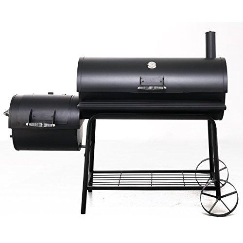 Tepro Holzkohlegrill Smoker Natchez, B/T/H: 163/74/122 cm