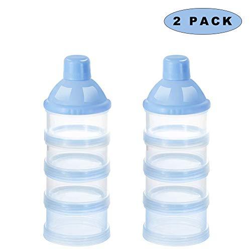 Blau (large) Sunshine smile milchpulver aufbewahrung,Milchpulver-Spender,Tragbarer Baby Milchpulver Beh/älter,milchpulver container mit Gleichmacher 600ML//280ML